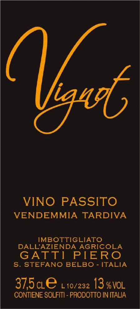 Vino Passito Vignot - Gatti (etichetta)