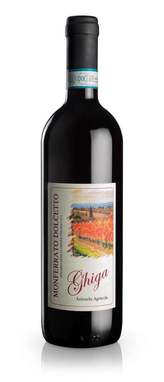 Monferrato Dolcetto DOC - Ghiga - Bottle
