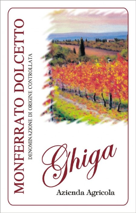 Monferrato Dolcetto DOC - Ghiga - Label