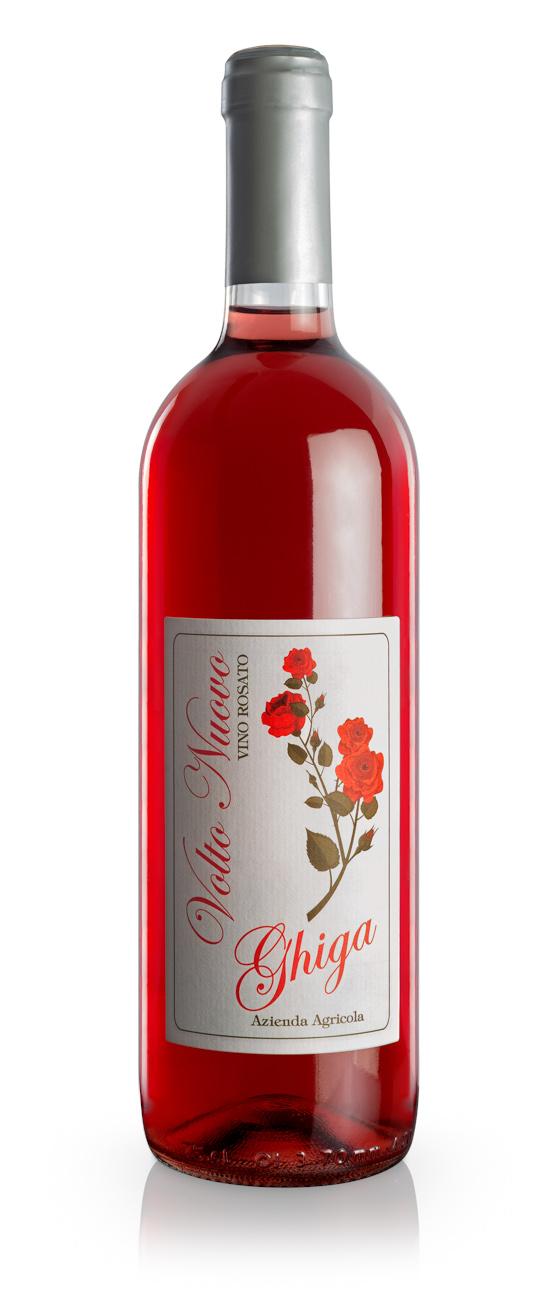 Volto Nuovo Rosé Wine - Ghiga - Label