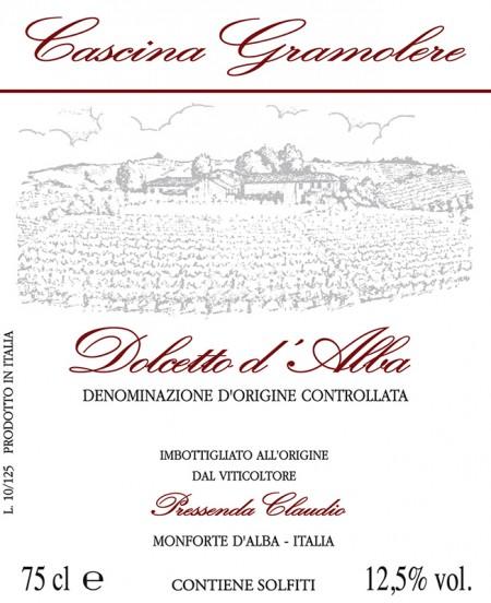 Dolcetto d'Alba DOC - Gramolere - Label