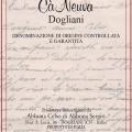 Dogliani Superiore DOCG - Cà Neuva (etichetta)