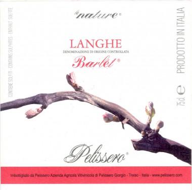 Le Nature Vino Rosso Barlet - Pelissero (etichetta)