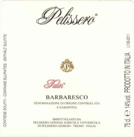 Barbaresco DOCG Tulin - Pelissero (etichetta)