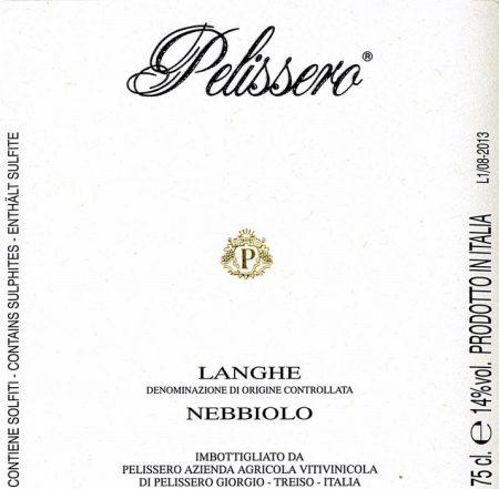 Langhe DOC Nebbiolo - Pelissero (etichetta)