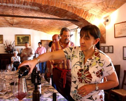 Tasting wine with Silvia
