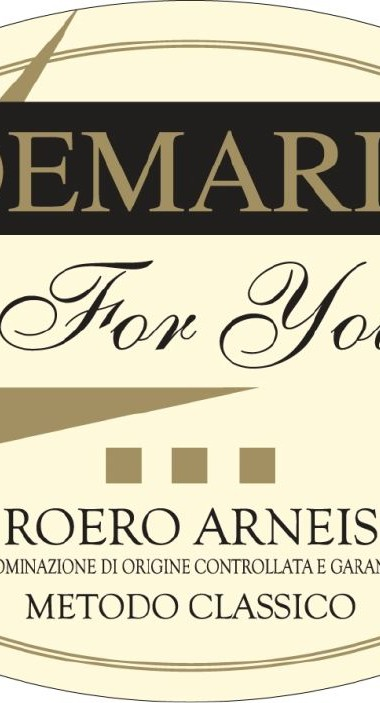 Roero Arneis DOCG Spumante For You - Demarie (etichetta)