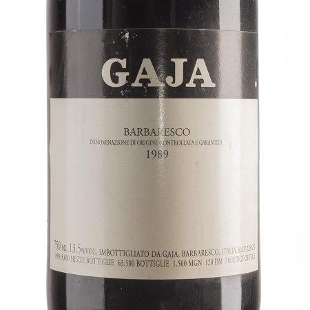 Gaja - Barbaresco 1989 etichetta