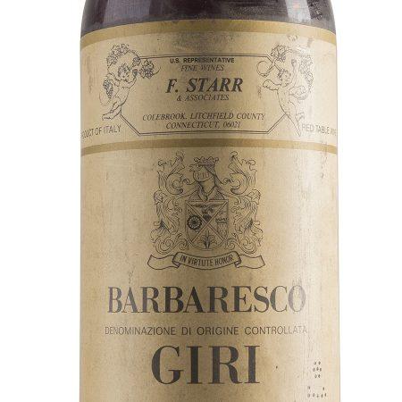 Barbaresco 1979 - Giri (etichetta)