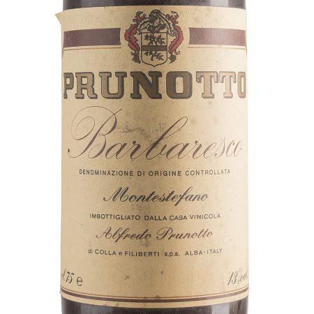 Barbaresco 1983 - Prunotto etichetta