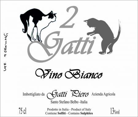 Vino bianco 2 Gatti - Gatti Piero (label)