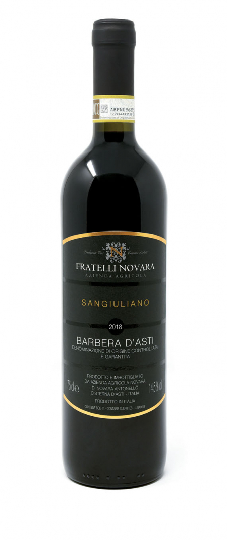 Barbera d'Asti DOCG Sangiuliano - Fratelli Novara (bottiglia)